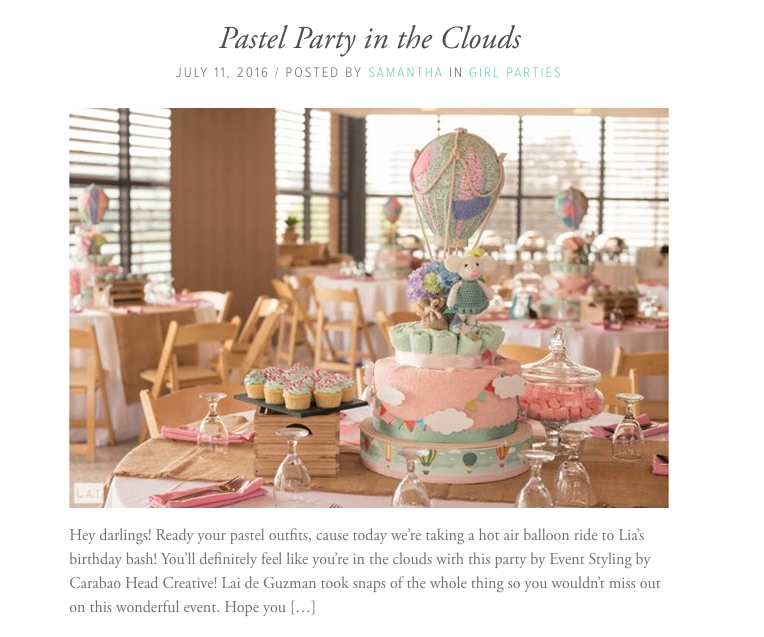 Baby and Breakfast Pastel Party in the clouds