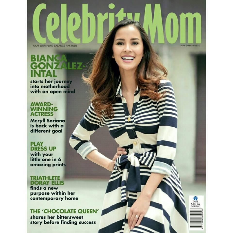 Bianca Gonzales on the Cover of Celebrity Mom Lorra Engbue Te Maternity Portraits Lai de Guzman